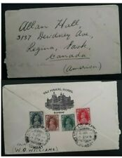 RARE 1955 India Taj Mahal Hotel Cover ties 4 stamps cancelled Bombay