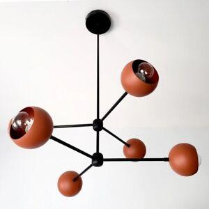 Modern Sputnik Industrial Chandelier Eyeball Shaped Mid Century Ceiling Fixture