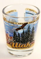 UTAH STATE WRAPAROUND SHOT GLASS SHOTGLASS