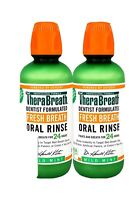 2 Pack TheraBreath Fresh Breath Oral Rinse Mild Mint Flavor 16 Ounces Each