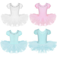 Toddler Girls Ballet Dance Dress Toddler Tutu Leotard Skirt Dancewear Costumes