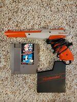 Orange Nintendo NES Zapper Light Gun Plus Super Mario Bros Duck Hunt Game