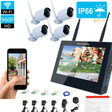 "Wireless 10""TFT LCD Monitor DVR Home 960P WIFI Security Cameras System Day Night"