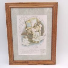 "Vintage Framed Ivory Soap Advertisement Watercolor Image 14""x 10.5"""
