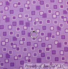 BonEful Fabric Cotton Quilt Purple Tonal Block Square Stripe Calico Girl L SCRAP