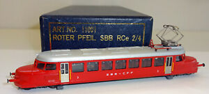 """Bänninger / BW N 11001 Kleinserie Triebwagen """"Roter Pfeil"""" der SBB OVP JU354"""