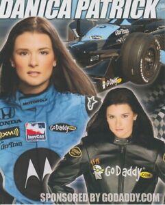 2008 Danica Patrick Go Daddy Honda Dallara Indy Car Hero Card