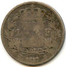 Louis XVIII (1815-1824) 1 Franc 1817 D Lyon 5,356 Ex Rare