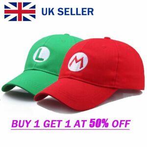 Super Mario Bros Mario Luigi Caps Adult Teenagers Hat Costume Fancy Caps UK