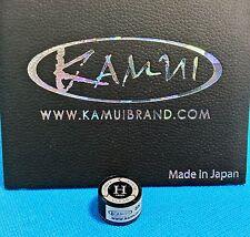 (1) Genuine H KAMUI BLACK CLEAR Pool Cue Tip ( HARD ) - w/ serial number