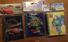 Set of 3 Small Notebooks DISNEY Toy Story & CARS NEW in Pack! Journal Lined