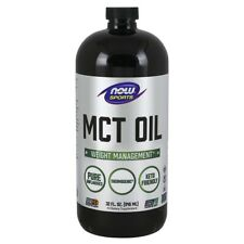 NOW Foods MCT Oil 32 oz, 100% Pure, Weight Management, Spares Lean Body Tissue