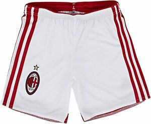 adidas boy shorts AC Milan Home, Running White / Victory Red S04, 176