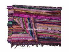 Rag Rug Mat Chindi Indian Handmade Cotton Multi Fair Trade Rugs Large Carpet