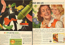 1944 WW2 Ads SHELL RESEARCH TOLUENE makes Bombs and Fabric Dye  2 for 1 ! 120216