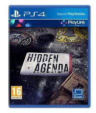 Hidden Agenda PS4 - Playlink Puzzle Gioco per Sony Playstation 4 Nuovo Sigillato