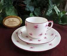 SHELLEY Fine Bone China  **SCATTERED ROSE**, #11599 TRIO  CARLTON Shape