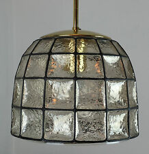 large glashuette limburg hanging LAMP 1960's 70's glass pendant light