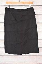 VERONIKA MAINE Skirt Sz 10 medium black pencil straight skirt