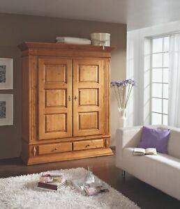 Schrank Landhausstil Isabella Holz Massiv Fichte Antik Lackiert 163x197x60