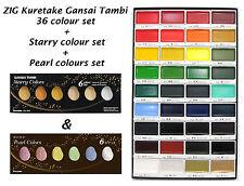 ZIG Kuretake Gansai Tambi 36 colour + Starry Colors + Pearl Colors sets