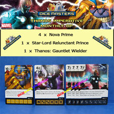 THANOS IMPERATIVE PROMOS + 4 Nova + Star-Lord Marvel Dice Masters Monthly OP