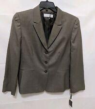 Tahari Womens Blazer Suit Jacket Plus Size 18 Career Button Taupe NEW