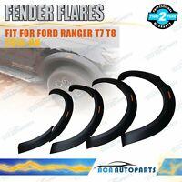 New Design Wrinkle Fender Flares Wheel Arch For Ford Ranger T7 T8 2015-ON