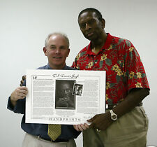 EARL LLOYD signed, 1st African Am. to Play in NBA. Pres Obama owns #44! SAVE 70%