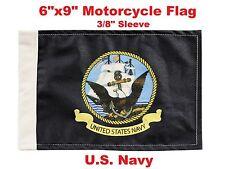 "Pro Pad Motorcycle Flag 6""x9"" U.S. Navy Flag Fits 3/8"" Flag Poles"