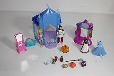 Disney Cinderella and Prince Castle Polly Pocket Set w Cloths Furniture accessor