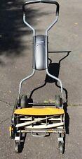 "Fiskars StaySharp 18"" Max Reel Manual Push-Behind Lawn Mower with Grass Catcher"