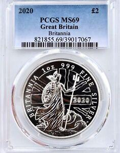 2020 Royal Mint Britannia £2 Two Pound Silver Spirit of a Nation PCGS MS69