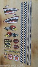 22tlg. RC 1:18 Modell Oldschool Aufkleber Hai Texaco Racing V8 Vintage Sticker
