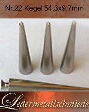 NR.22-5 Stück vernickelte Kegelnieten 54,3x9,7mm,Schraubnieten,Killernieten