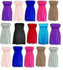 Womens Sharing Bandeau Strapless Boobtube Vest Ladies Top Plus 8-26