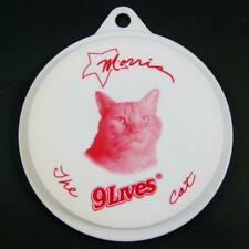 RARE Morris the Cat 9 Lives Pet Food Can Cover Lid Promo Plastic Fits 2 size can
