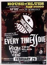 Every Time I Die / From First To Last 2008 San Diego Concert Tour Poster