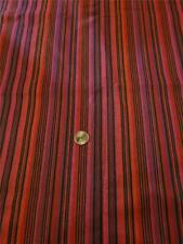 3 Yards Home Decor Craft Fabric Purple Pink Black Red Orange Uneven Stripe