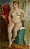 Russian Ukrainian Oil Painting Impressionism Portrait nude Girl Woman realism