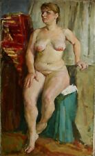 Russian Ukrainian Oil Painting Impressionism Portrait nude Girl Woman realism