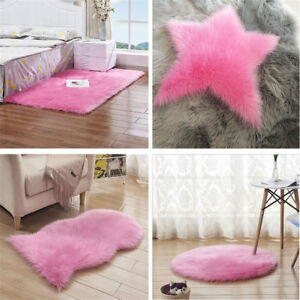 Faux Fur Sheepskin Rug Fluffy Mats Pad Room Chair Bed Hairy Shaggy Floor Carpet
