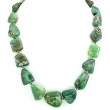Necklace natural Chrysoprase antique gemstone 925 solid sterling silver 117 gram