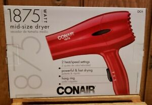 Conair Hair Dryer Styler 1875W Red Mid-size Blower Hair Care Top Quality