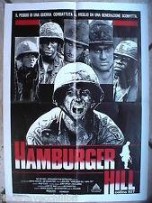 Vecchia locandina film HAMBURGER HILL Collina 937 John Irvin Vietnam cinema del