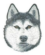 "2 1/4"" x 2 3/4"" Siberian Husky Dog Breed Embroidery Applique Patch"