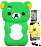 iPod Touch 4th Generation 8G 16G 32G 3D RILAKKUMA BEAR Soft Skin Silicone Case