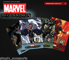 UD MARVEL BEGINNINGS SERIES 1 2&3 540-CARD HUGE SET Spiderman,Wolverine,THOR+