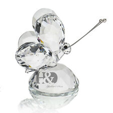 H&D Clear Crystal Flying Butterfly Paperweight Animals Decorative Collectibles