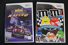Nice Lot of 2 Nintendo Wii Video Games M&M'S KART RACING & MINI DESKTOP RACING!